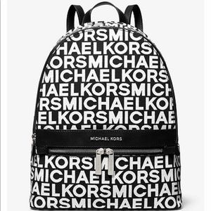 NEW MK Kenly Large Graphic Logo Backpack